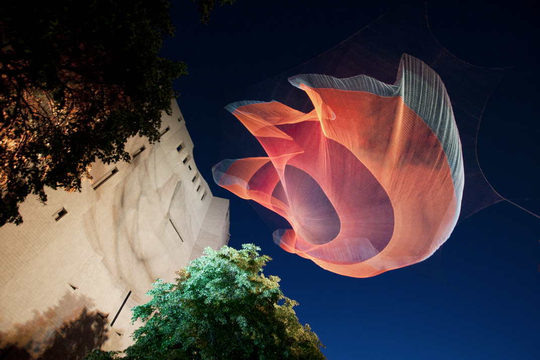 A Massive Aerial Sculpture Is Hoisted in Downtown Vancouver