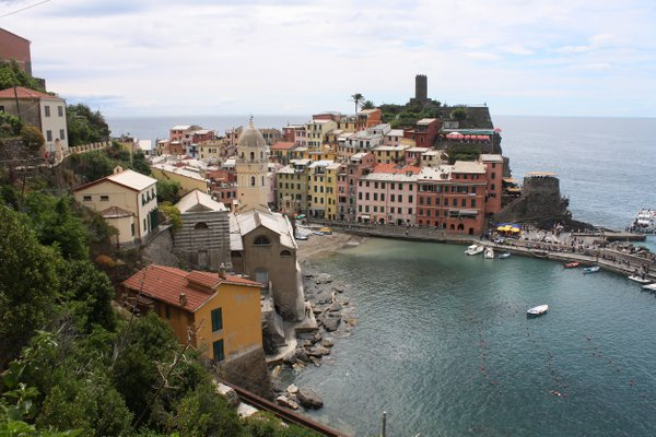 The town of Vernazza from above.  thumbnail