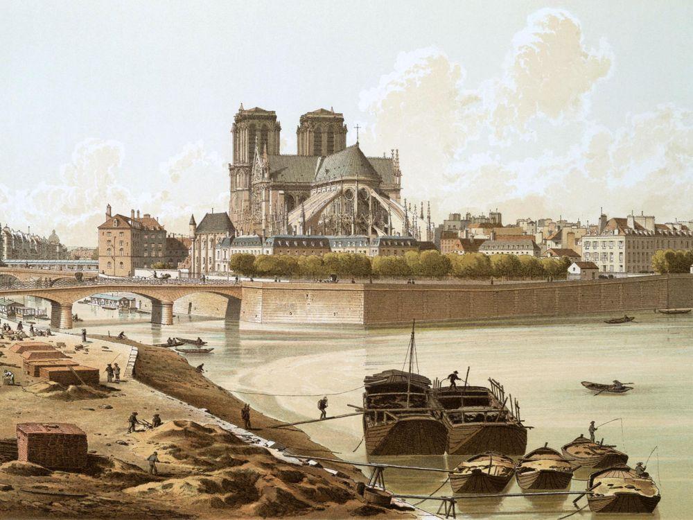 Notre-Dame Paris 1830s