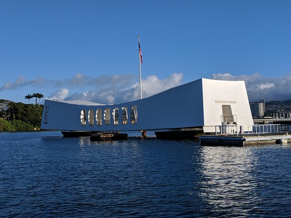 The Arizona Memorial at Pearl Harbor Hawaii thumbnail