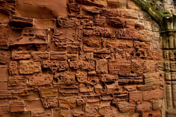 Diverse striations in a Kenilworth Castle wall thumbnail