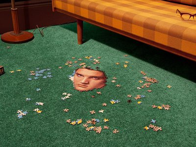Elvis Jigsaw (2011) Elvis makes an appearance in several images in Short Stories.