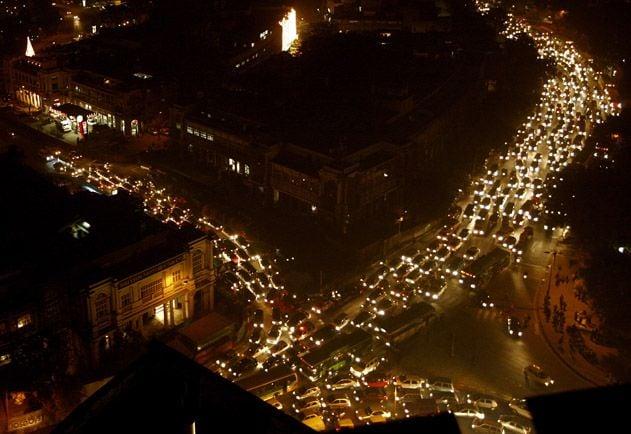 A Delhi Traffic Jam