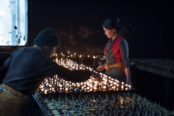 Butter Lamps in Lhasa, Tibet thumbnail