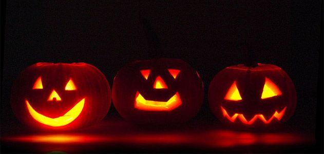jack o'lanterns, pumpkins, Halloween