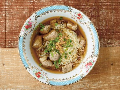 Pork and Anise Soup with Rice Noodles.