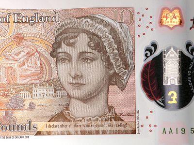 Jane Austen on the new £10 note.