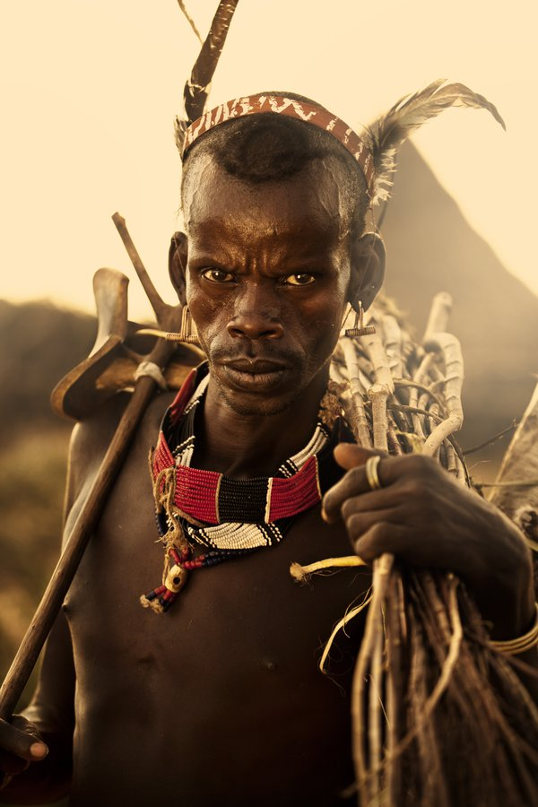 Omo Valley village man. thumbnail