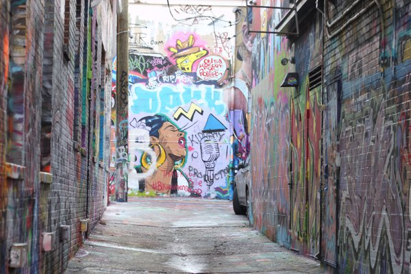Graffiti Alley in Baltimore, Maryland thumbnail