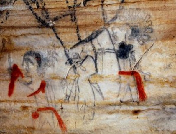 View of art in Picture Cave