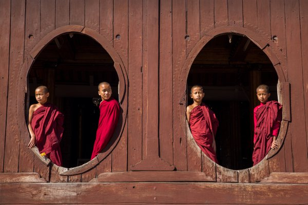 The novice monks of Burma thumbnail