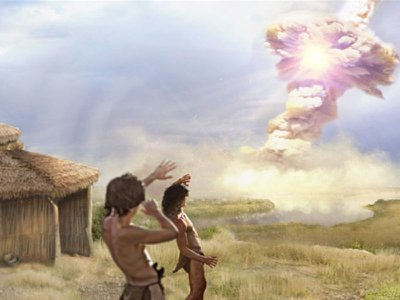 Airburst from a comet may have destroyed a Paleolithic settlement 12,800 years ago.