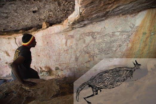 17,000-Year-Old Kangaroo Painting Is Oldest-Known Australian Rock Art
