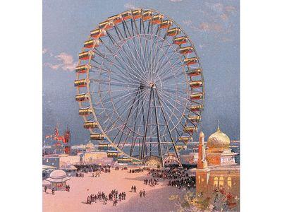 More than 3,000 lights adorned Ferris' wheel.