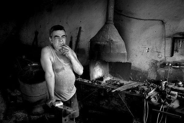 Blacksmith from village Bashaid in Serbia 2008. thumbnail