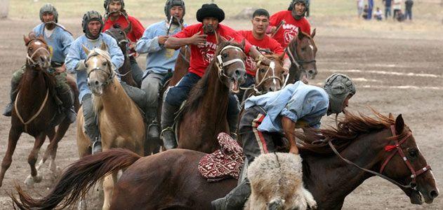 Krygyz horseman play the national game Kok-boru