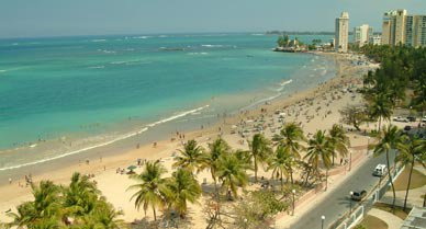 The beach resorts in San Juan's Condado district