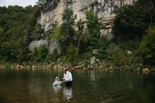 Baptized in the waters of the Buffalo National River thumbnail
