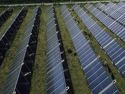 Photovoltaic panels are ideally suited to remote locations, as in this island community in Denmark, where the infrastructure required to connect to a centralized power grid is prohibitively expensive or too destructive to the natural landscape.