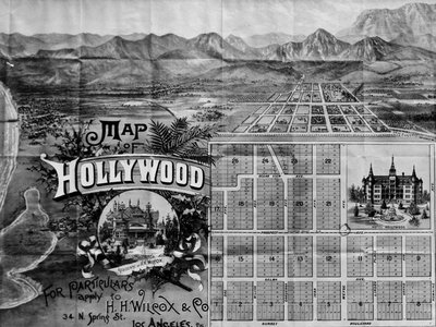 The first map of the new Hollywood development, from 1887.