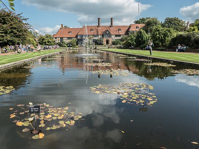 The new horticultural center will be built at the RHS flagship garden in Wisley, Surrey