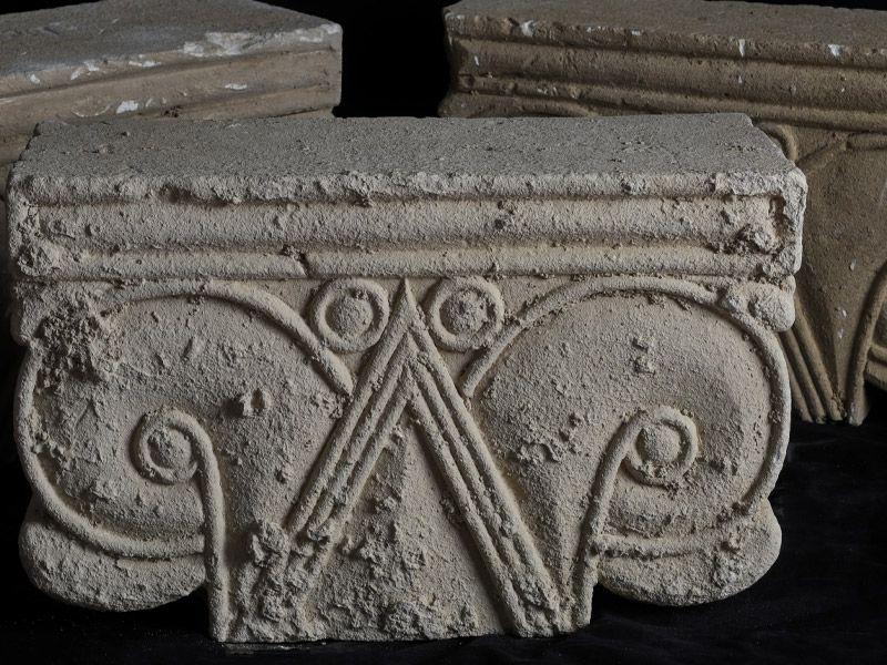 Ancient column head from Jerusalem