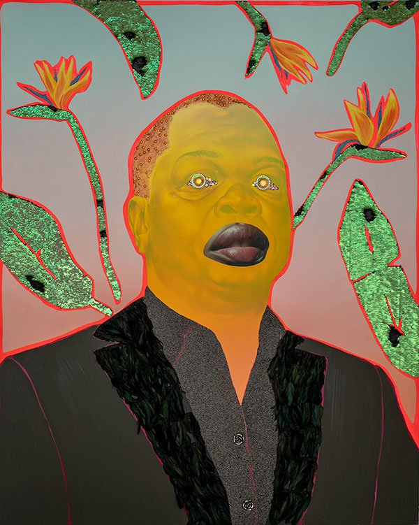 Devan Shimoyama, Depicting Kehinde Wiley