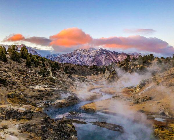 Sunrise at Mammoth Hot Springs thumbnail