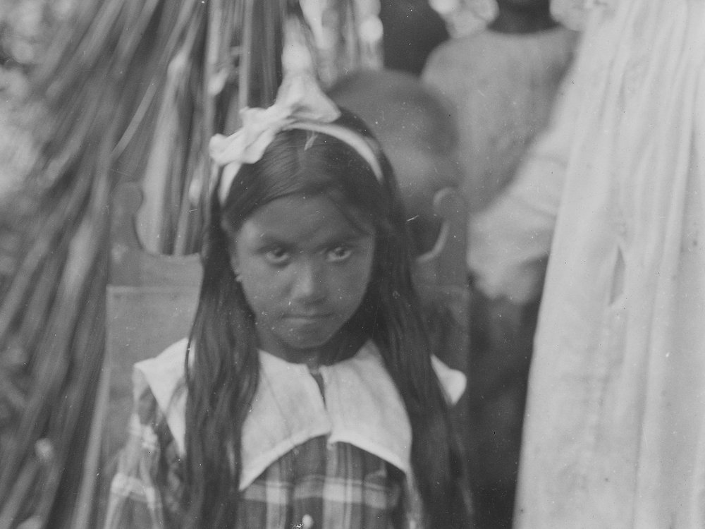 Unidentified Native child near Baracoa, Cuba, 1919. Detail of photo by Mark Raymond Harrington. NMAI N04470