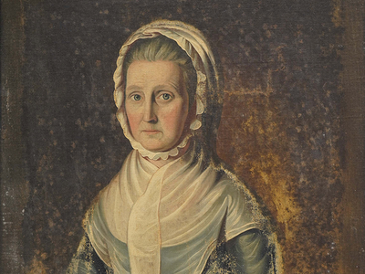 A recently discovered portrait believed to be of Jane Strachey, English School, c.1788
