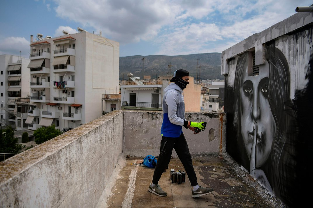 How Street Artists Around the World Are Reacting to Life With COVID-19