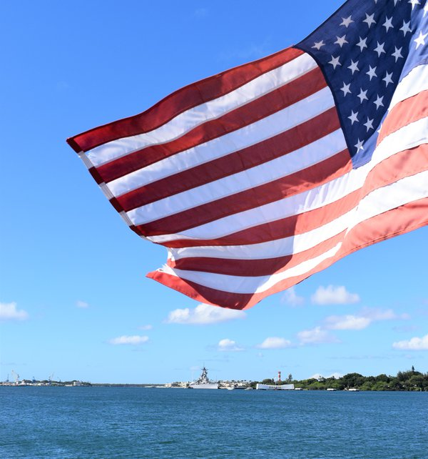 The American Flag at Pearl Harbor thumbnail
