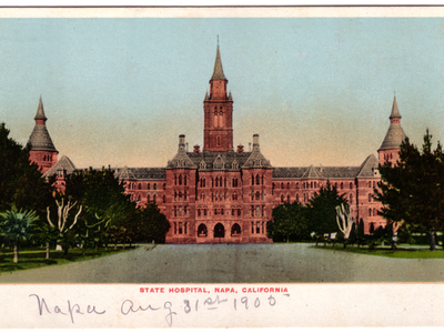 Postcard of the Napa State Hospital in Napa, Calif., circa 1905. Over 1,900 Californians were recommended for sterilization while patients here.
