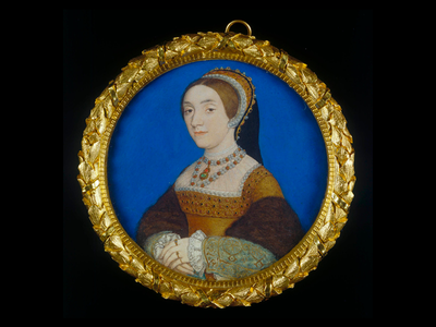 This 1540 miniature by Hans Holbein may depict the Tudor king's fourth wife, Anne of Cleves, not his fifth wife, Catherine Howard.