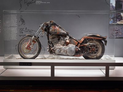 The bike on display at the Harley-Davidson Museum.
