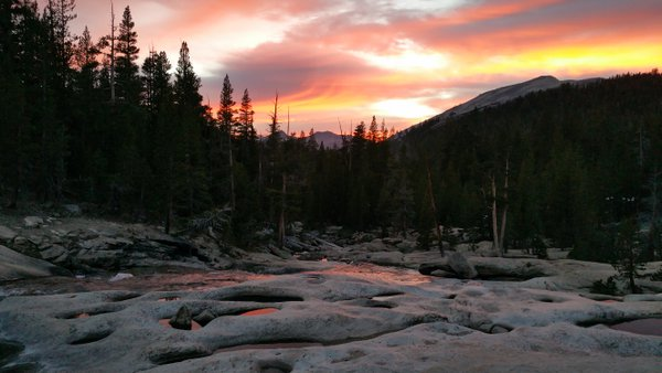 Tuolome River at Dusk-Yosemite National Park thumbnail