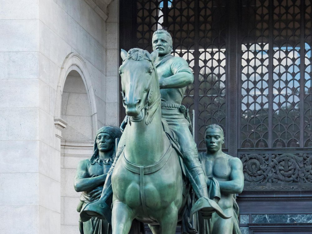 Statue of Theodore Roosevelt outside the American Museum of Natural History in New York City