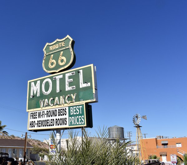 Route 66 Themed Motel Sinage  thumbnail