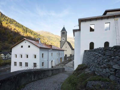 The museum is located in the tiny Swiss town of Susch