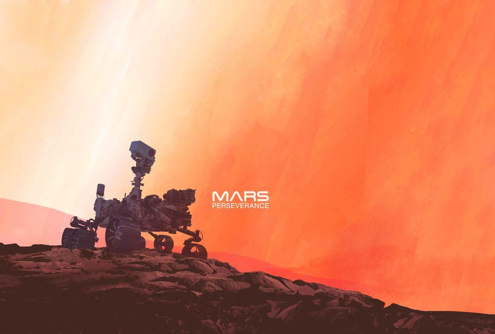 Perseverance Rover on Mars ( NASA Illustration)
