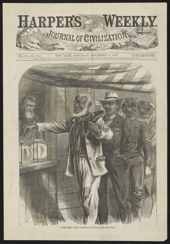 Black and white print from Harper's Weekly