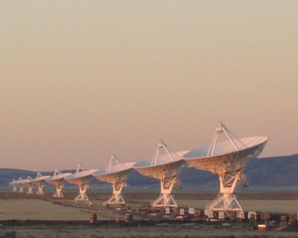 Telescopes of another kind - Radio telescopes poised at the Very Large Array (VLA) Socorro, New Mexico thumbnail