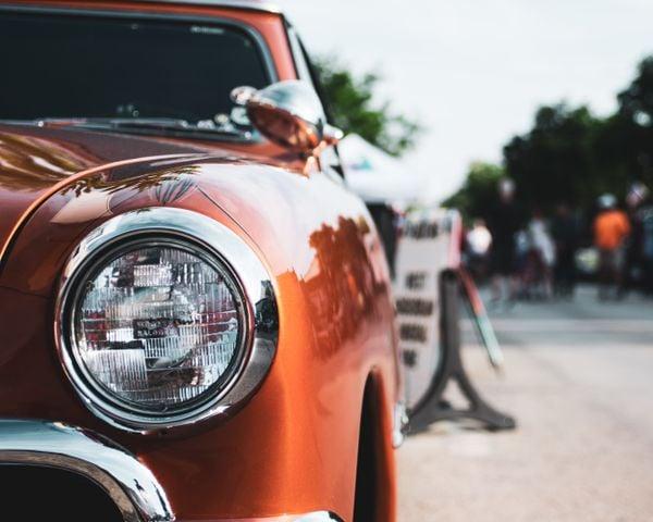 Classic car during a summer car show thumbnail