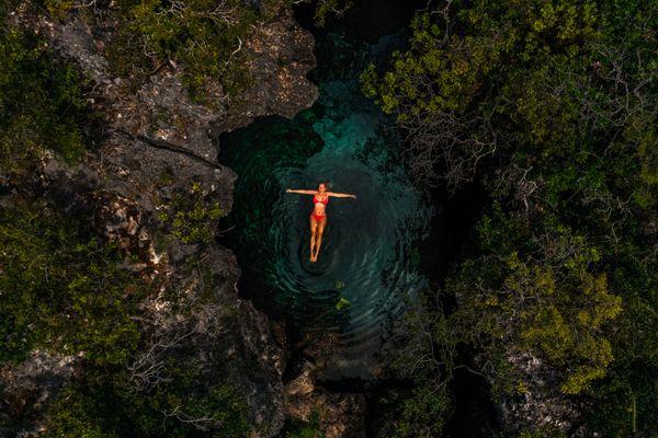 Drone Self Portrait on Long Island Bahamas thumbnail