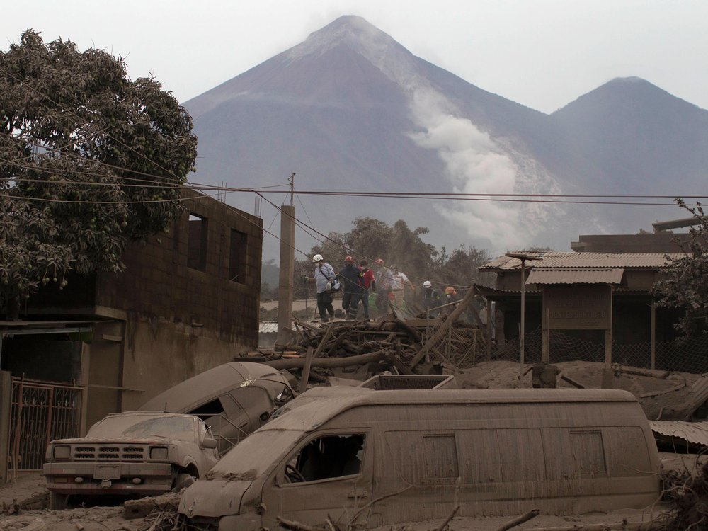 A fuego volcano
