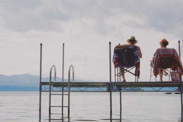 Mom and Dad on the Dock thumbnail