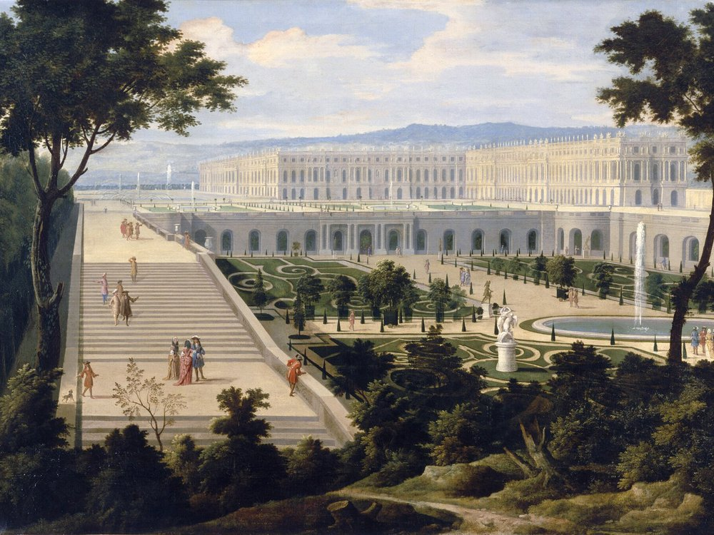 View of the Orangerie in 1695 as painted by Étienne Allegrain and Jean-Baptiste Martin