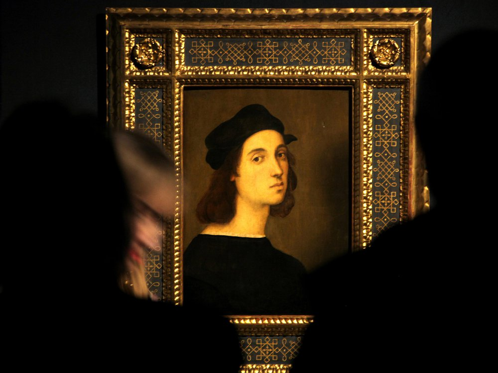 Raphael portrait on view in Rome