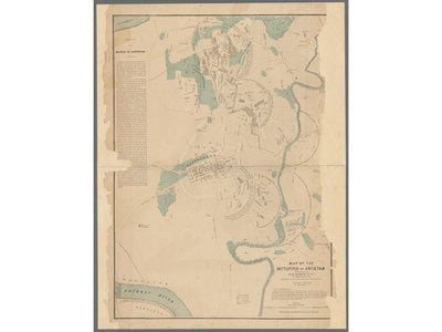 Simon G. Elliott's Antietam battlefield map was one of about 3,000 antique maps digitized by the New York Public Library between 2015 and 2018.