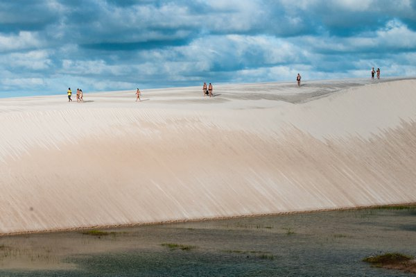 Foothpath on the sand dune thumbnail